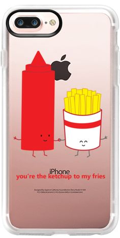 Casetify iPhone 7 Plus Case and other Sneaky Snacks iPhone Covers - You're The Ketchup To My Fries by Queenie's Card | Casetify