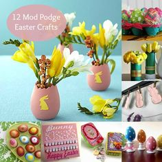12 Mod Podge Easter Crafts - pinned for later!