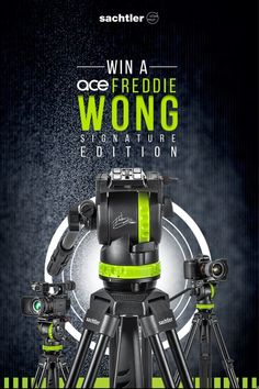 Enter to win a Win Freddie Wong Signature Edition Sachtler Ace Tripod valued at $885! Gain more entries with social sharing too!