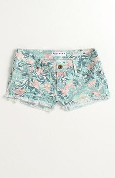 Celeb Shorts Style! These fresh floral cutoffs pair great with a light sweater or denim jacket