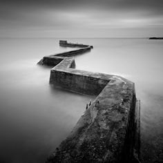 One of the bests shaped harbour walls I have came across. Taken on the Fife Coast, Scotland Borrow Money, Middlesbrough, Black And White Photography, Monochrome, Gallery, Nature, Travel, Photos, Fotografia