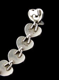 Hans Hansen Modernist Heart Bracelet Denmark (item #1327414, detailed views)