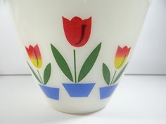 Fire King White Tulip Bowl  Fire King Tulip by SecondWindShop