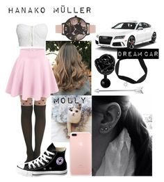 """Ouran HighSchool Host Club : [OC] Hanako"" by fandoms-life on Polyvore featuring Olivia Burton, NLY Trend and Converse"