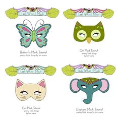 Make your own felt masks with templates and tutorial!!