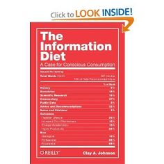 """The Information Diet: A Case for Conscious Consumption by Maria Popova Why """"information overload"""" is the wrong lens on the issue, or what sugar and fat have to do with Hollywood. Information Diet, Information Overload, To Go, Singing Lessons, Singing Tips, Diet Books, The Villain, Lifehacks, Consciousness"""