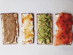 Matzoh Tartines for Passover recipe: Ready for the topping. #food52