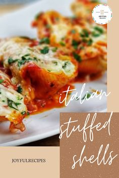 "Italian Stuffed Shells ""This recipe is a hit wherever you go. Italian Stuffed Shells, Stuffed Shells Recipe, Stuffed Pasta Shells, Vegetarian Crockpot Recipes, Beef Recipes, Chicken Recipes, Cake Recipes, Brocolli Recipes, Jumbo Pasta Shells"