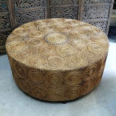 Round Coffee Table idea; love to mix textures