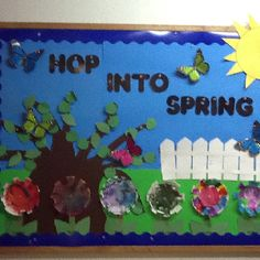 My own Spring Bulletin Board-no link