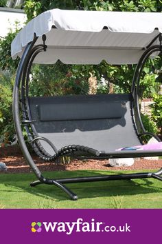 69 best backyard garden swing seats for summer Garden Swing Hammock, Backyard Swings, Backyard Landscaping, Hammock With Canopy, Home Decor Furniture, Garden Furniture, Modern Furniture, Outdoor Chairs, Outdoor Decor