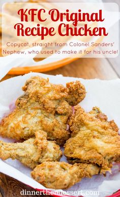 KFC Original Recipe Chicken (Copycat) – Dinner, then Dessert