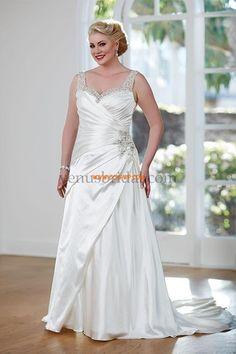 Taft Podzim Šněrování Svatební šaty 2015