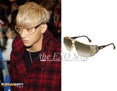 SID_AC_Cazal_Tao 951 Glasses in Yellow  | Shop: N/A | Image Source: Newsen
