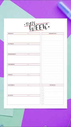 Ultimate Collection of more than 400 printable planner templates. Easy to customize right in the web browser and download PDFs for creating your own unique planner. #weekly #planner #hourly #template #printable #schedule