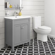 Traditional Bathroom Furniture Storage Vanity Unit with Basin & Toilet Basin Vanity Unit, Bathroom Vanity Units, Vanity Sink, Basin Sink, Bathroom Storage, Bathroom Stand, Barn Bathroom, Bathroom Cabinets, Bathroom Vanities