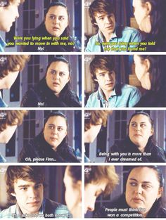 Finn and Rae. My Mad Fat Diary Season 3 Episode 1