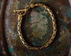 Items similar to Steampunk Hex Nut Hardware Inch Bracelet on Etsy Swarovski, Antique Gold, Steampunk, Plating, Vintage Jewelry, Hardware, Etsy, Antiques, Bracelets
