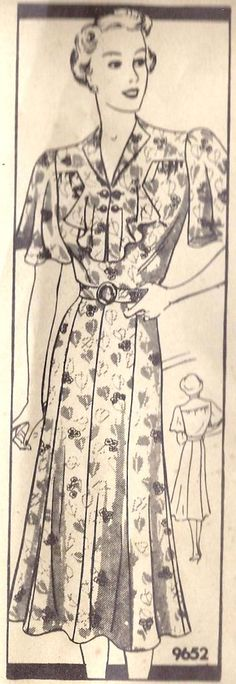 1930's Pattern - I love the collar!