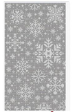 Filet Crochet Charts, Knitting Charts, Christmas Cross, Diy Christmas Ornaments, Stitch Patterns, Crochet Patterns, Red And White Quilts, Fillet Crochet, Xmas Cross Stitch