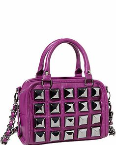 STUDIO 54 MINI SATCHEL PURPLE
