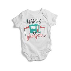 Happy Glamper cute colourful baby adventure bodysuit BANDANA PULLOVER BIB  High quality print for baby 4f8645d9ee
