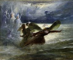 Sea Sprites in Flight by John Anster Fitzgerald (English, 1819–1906)