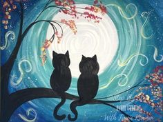 Cat Painting Easy - Step By Step Painting - Online Acrylic Tutorial