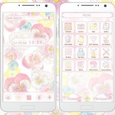 """""""Gentle Pansies"""" Available From:2/26 '15 (EST) http://app.android.atm-plushome.com/app.php/app/themeDetail/material_id/1208?rf=pinterest #plushome #cute #wallpaper #love #kawaii #design #icon #girl #follow #fashion #code #beautiful #flower"""