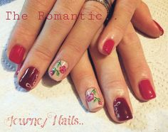 Feel the love - Rose hand-painted nail art. Nail art by a local lady in Centurion, South Africa.. 071 244 4709 Contact her for an appointment