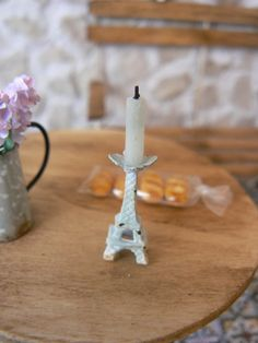 Eiffel Tower Candle Holders Dollhouse by MiniEdenTienda on Etsy