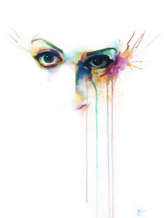 """Saatchi Online Artist: Innes McDougall; Watercolor, 2012, Painting """"Good and Evil"""""""