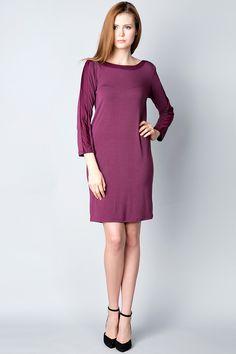 x Фиолетовое платье с фигурным вырезом на спинке Silvian Heach