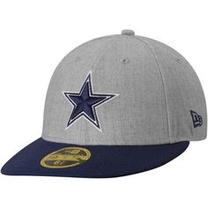 5c632d75938 Dallas Cowboys New Era Change Up Low Profile 59FIFTY Fitted Hat - Heather  Gray