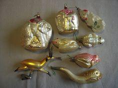 Antique glass Christmas ornaments