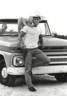 cowboy & dog.....mmmm, does he need a Deputy???