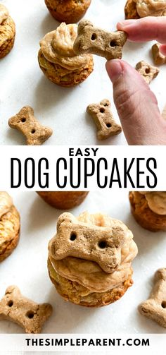 Cupcakes For Dogs Recipe, Dog Cake Recipes, Easy Dog Treat Recipes, Dog Biscuit Recipes, Easy Cupcake Recipes, Dog Food Recipes, Easy Dog Cake Recipe, Simple Dog Biscuit Recipe, Dog Treat Cookie Recipe