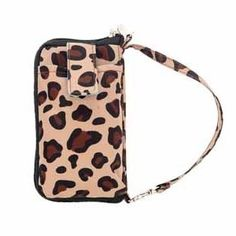 Cheetah Tech Wallet. Your on the go style. Zippered coin pocket, 4 card slots, ID window, and large interior area for bill storage. Fits the iPhone 5 in case or the Galaxy 3's in case.  www.initials-inc.com/LeahSmith #initialsinc