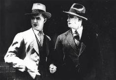 Movie star Gordon Collingridge, left, 1924.