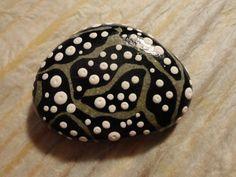 PAINTED BEACH STONE / Pebble Art /Hand Painted Stone/ Dot Painted Stone /Home Decor / Decorative Rock/ Abstract / Acrylic / Original on Etsy, $9.99