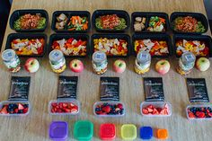 For my friends who utilize the 21 Day Fix eating proram. Here's what a week of meal prep looks like (WITH A SHOPPING LIST!) for the Fix!