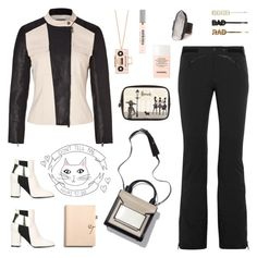 """""""Black and Pink"""" by deepwinter ❤ liked on Polyvore featuring KEEP ME, DKNY, Christian Lacroix, Pollini, Coach, Harrods, Chanel, JAKIMAC, Kate Spade and ban.do"""
