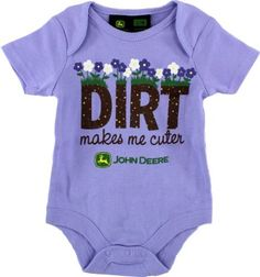 "John Deere ""Dirt Makes Me Cuter"" Lavender Infant Girls Bodysuit Onesie 0/3M-6/9M John Deere, http://www.amazon.com/dp/B009CXZ27M/ref=cm_sw_r_pi_dp_Vtvyqb0NS7JNP"