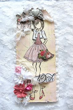 Shabby Chic Prima Doll Tag  Wish Prima Lyric  by IluvVintageScrap, $15.95