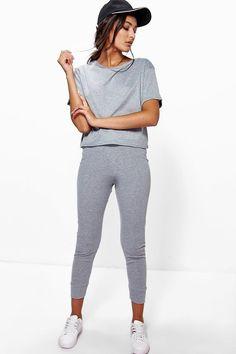 Amy Ribbed Crop + Legging Loungewear Set