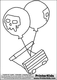 Clash Of Clans - Air Bomb - Coloring Page