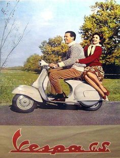 iconic image of vespa from Scooter Specialist Moto Scooter, Best Scooter, Piaggio Vespa, Lambretta Scooter, Vespa Girl, Scooter Girl, Vespa Motor Scooters, Vintage Italian Posters, Poster Vintage
