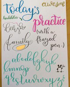 Homework with some frayed pens........................................................... ... #alphabet #brushlettering #brushpen #color #colors #colour #colours #calligraphy #calligraphylove #calligraphypen #handmade #handletter #handlettering  #handlettered #handwriting #handcalligraphy #lettering  #letteringart #moderncalligraphy #nofilter #watercolor #watercolorlettering #watercolorpainting  #surelysimplelettering  #surelysimple  #kuretake #kuretakezig  #pentel  #pentelbrushpen #ecoline…