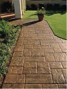 Select Blue Bluestone Walkway With Brick Paver Borders