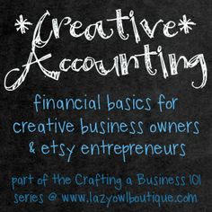 accounting for your creative business - tracking expenses bookkeeping